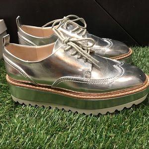 ⚪️Zara Platform Silver shoe ⚪️